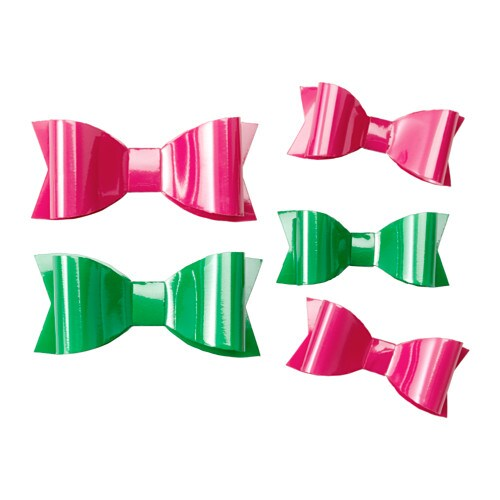 IKEA KRUSIDULLER bow, set of 5 Each bow has an adhesive label; easy to attach.