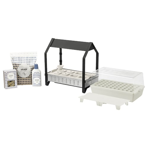 IKEA KRYDDA / VÄXER Grow kit w 8 pots, 1 tier