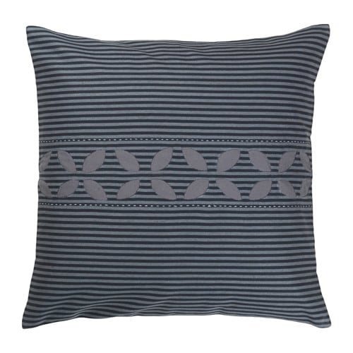 IKEA KRYDDAD cushion cover Cushion with contrasting colour sides for variation.