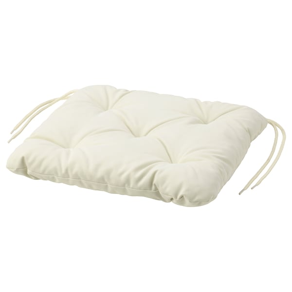 KUDDARNA Chair cushion, outdoor, beige, 36x32 cm