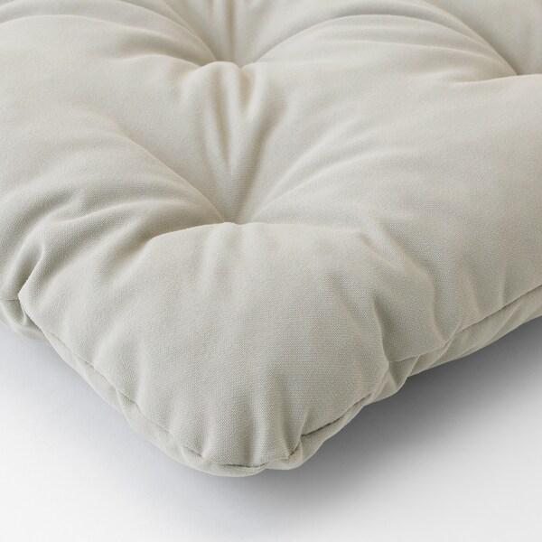 KUDDARNA Chair cushion, outdoor, grey, 36x32 cm