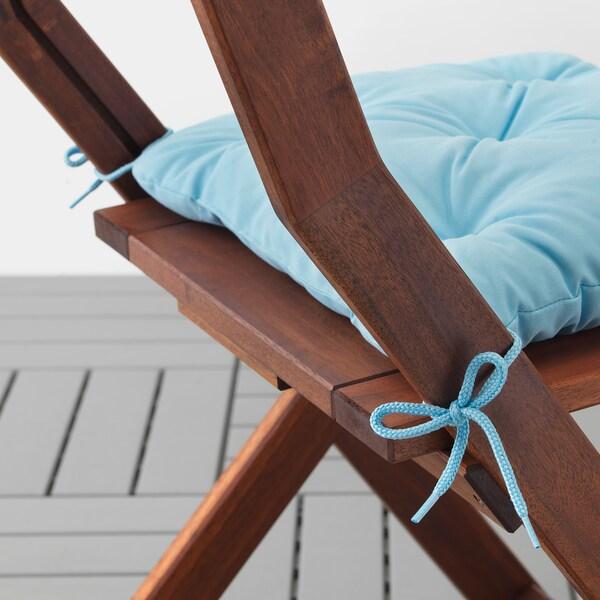 KUDDARNA Chair cushion, outdoor, light blue, 36x32 cm