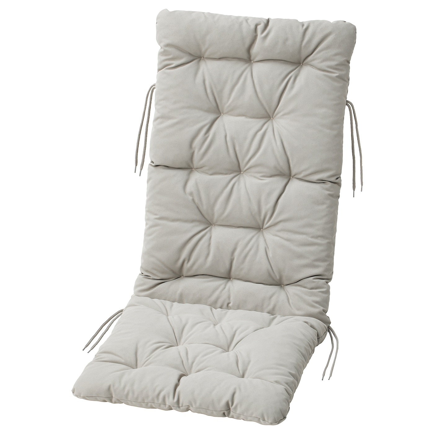Ikea Kuddarna Seat Back Cushion Outdoor Ties Keep The Firmly In Place On