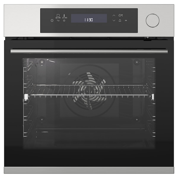 KULINARISK Forced air oven w steam function, stainless steel