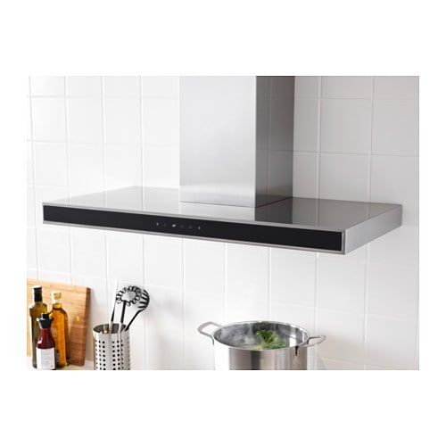 kulinarisk wall mounted extractor hood stainless steel glass ikea. Black Bedroom Furniture Sets. Home Design Ideas