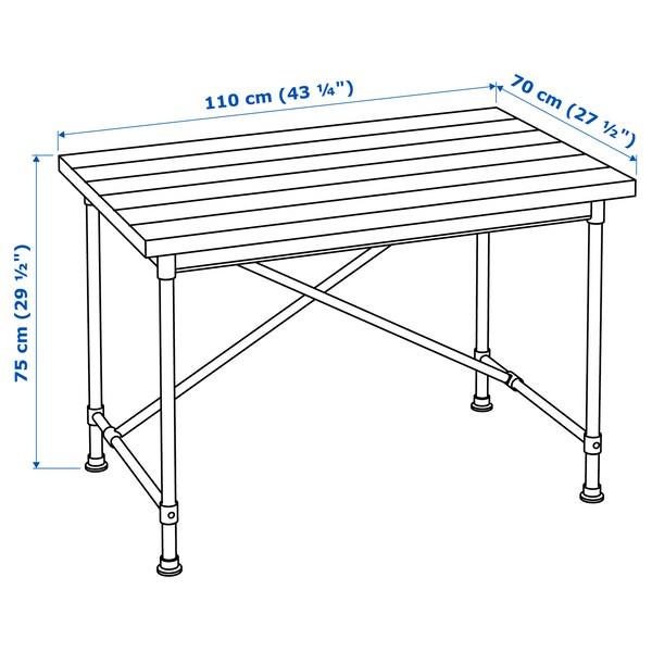 KULLABERG Desk, pine/black, 110x70 cm
