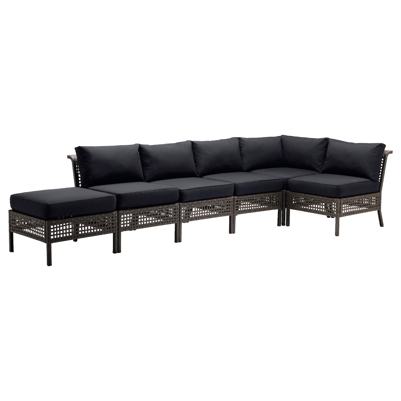 IKEA KUNGSÖ/KUNGSHOLMEN corner sofa 2+3 with stool, outdoor
