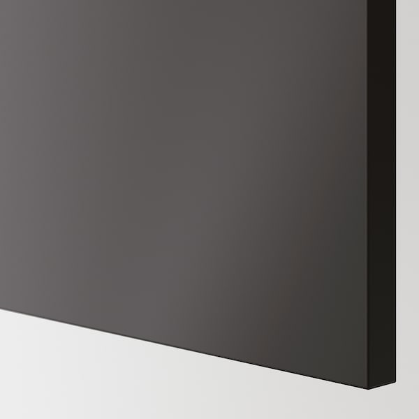 KUNGSBACKA Cover panel, anthracite, 39x83 cm