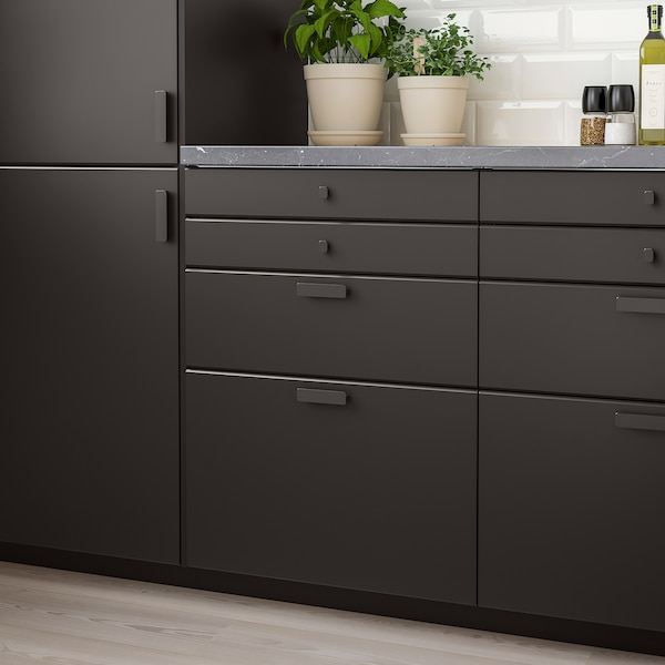 KUNGSBACKA Drawer front, anthracite, 60x10 cm