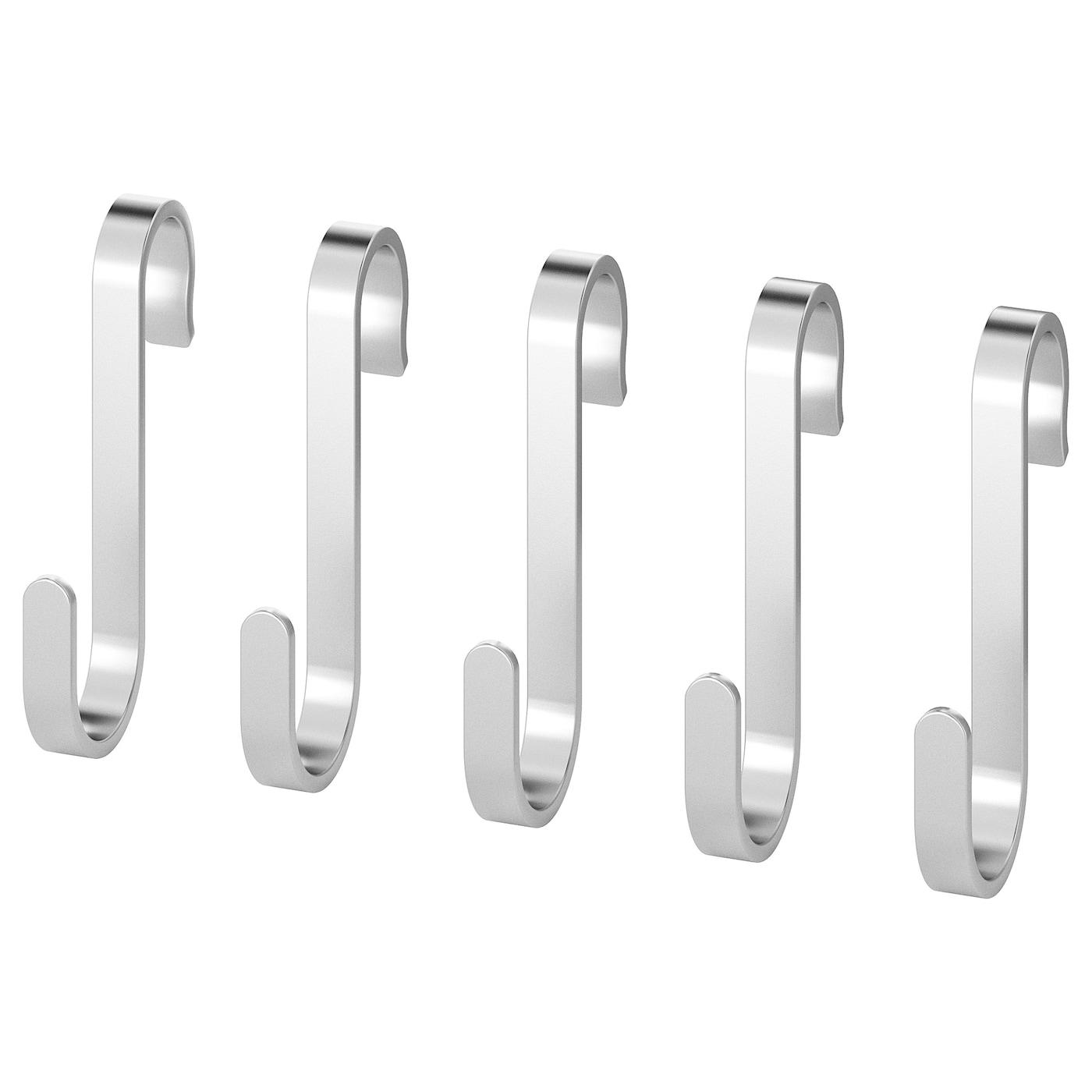 6 Stainless Steel Metal S Hooks Kitchen Utensil Hanger Cloths Hanging Rail