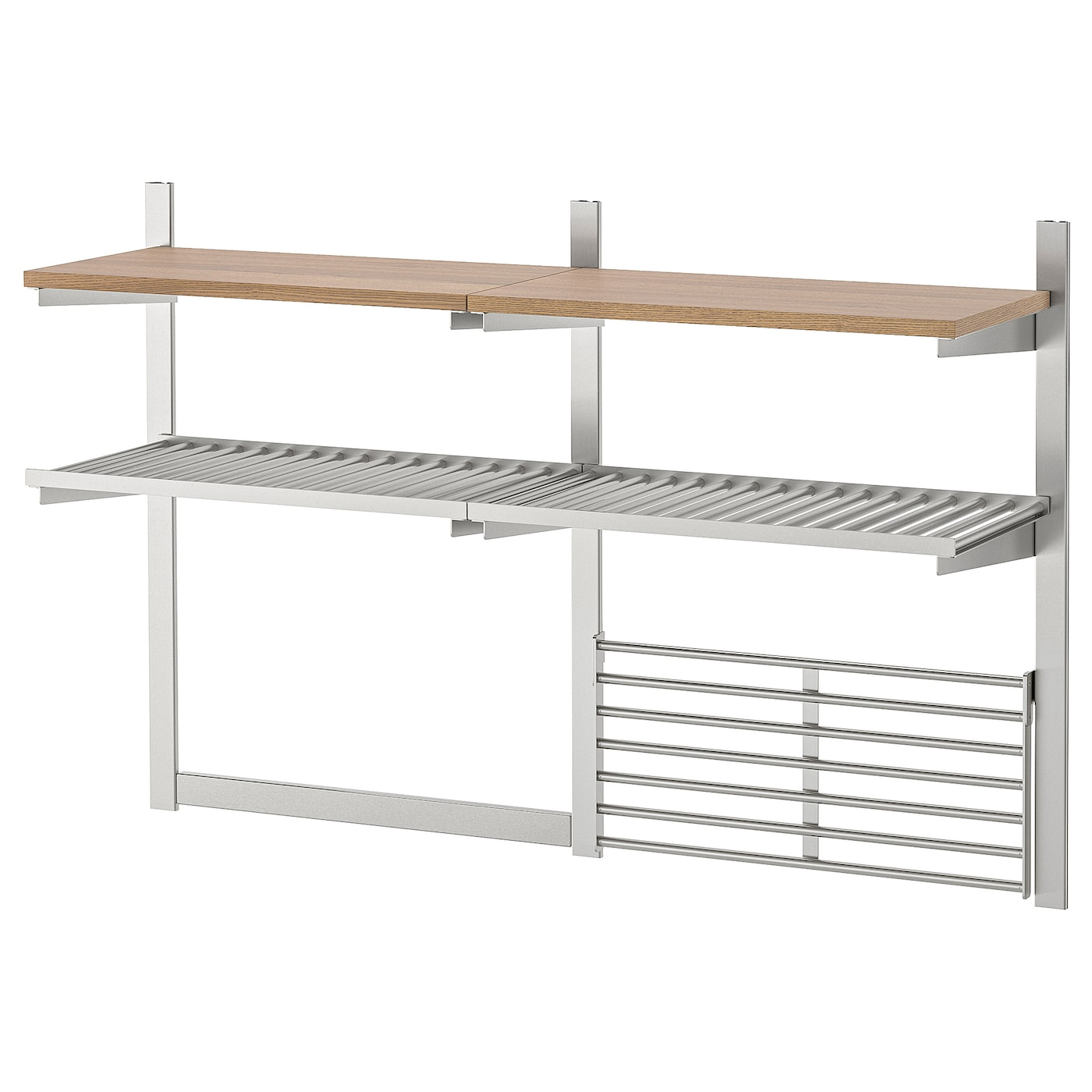 IKEA KUNGSFORS susp rail/shlf/mgnt knf rk/wll grid Gives you extra storage in your kitchen.