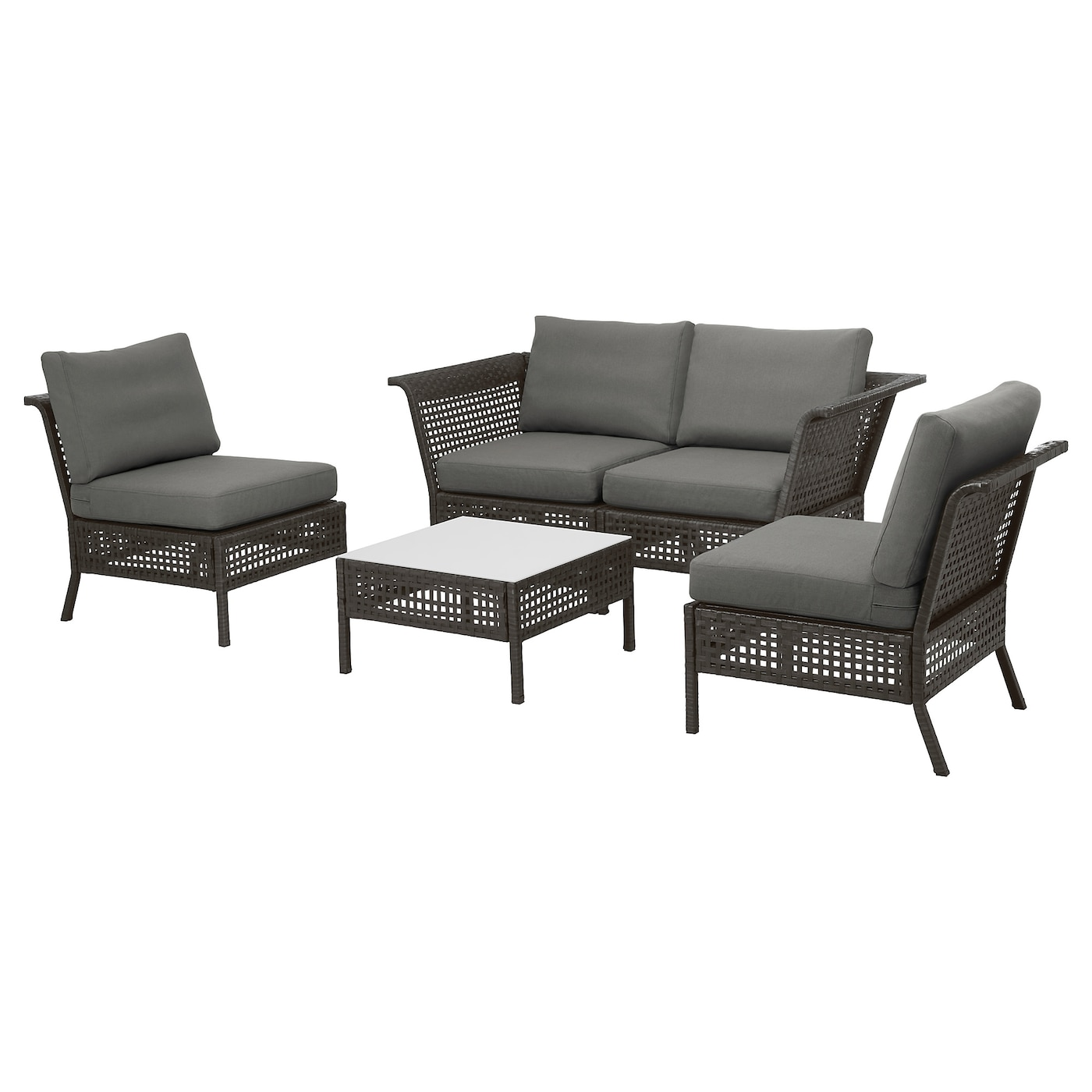 IKEA KUNGSHOLMEN 4-seat conversation set, outdoor