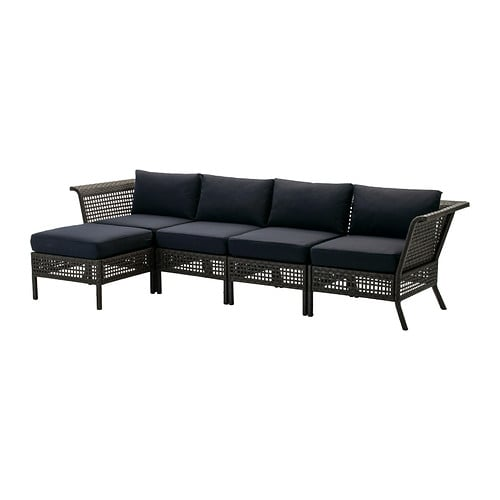 KUNGSHOLMEN / KUNGSÖ 4-seat sofa with footstool, outdoor IKEA