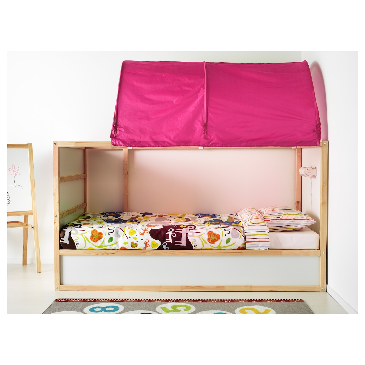 IKEA KURA bed tent Fits the bed both in a low and a high position.  sc 1 st  Ikea & KURA Bed tent Pink - IKEA