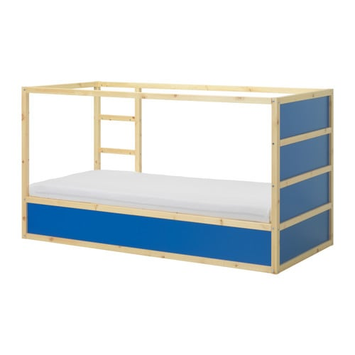 KURA Reversible bed IKEA Turned upside down the bed quickly converts from a low to a high bed.