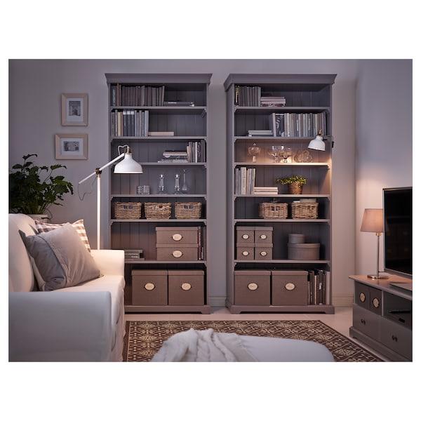 KVARNVIK Box, set of 3, grey