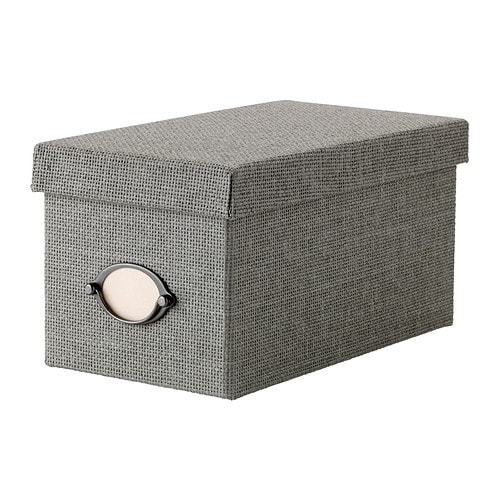 kvarnvik box with lid grey 16x29x15 cm ikea. Black Bedroom Furniture Sets. Home Design Ideas