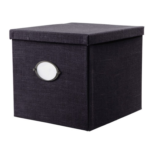 KVARNVIK Box with lid IKEA This box is suitable for storing your newspapers, magazines, photos or other memorabilia.