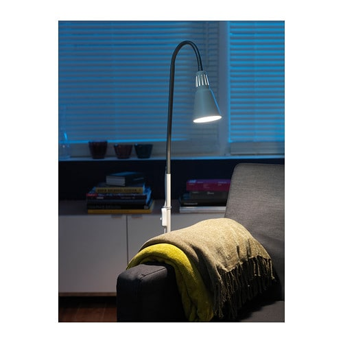 Ikea Malm Bett Lattenrost Rutscht ~ KVART Floor reading lamp Silver colour  IKEA