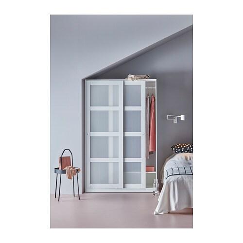 Ikea Kvikne Wardrobe With 2 Sliding Doors Customise The E Adjule Shelf