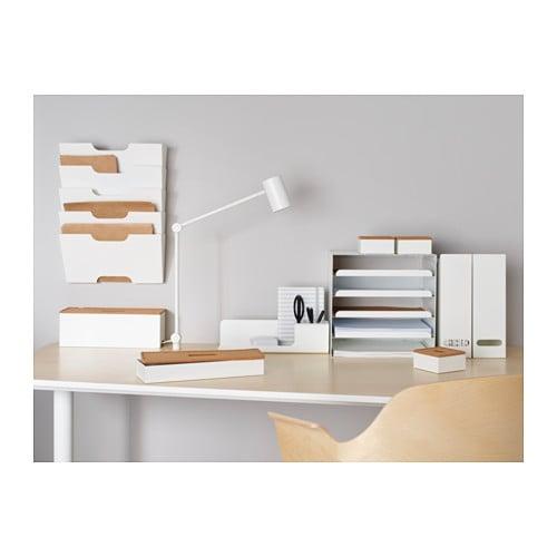 Kvissle desk organiser white ikea - Armoire metallique bureau ikea ...