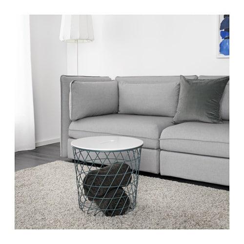 Storage Coffee Table Ikea: KVISTBRO Storage Table Turquoise 44 Cm