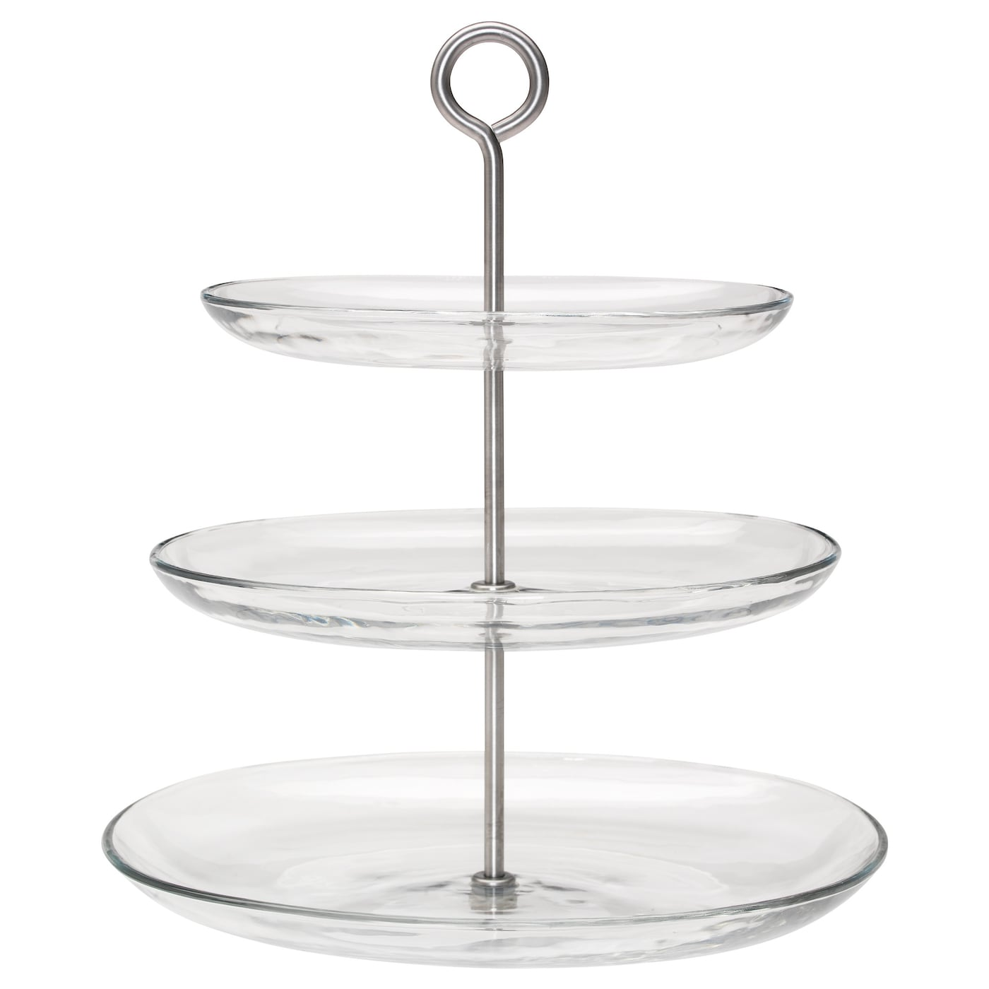 kvittera serving stand three tiers clear glass stainless steel ikea. Black Bedroom Furniture Sets. Home Design Ideas