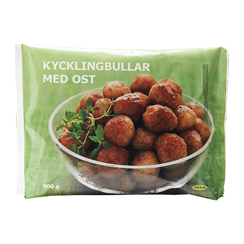 KYCKLINGBULLAR MED OST Chicken meatballs w cheese, frozen - IKEA