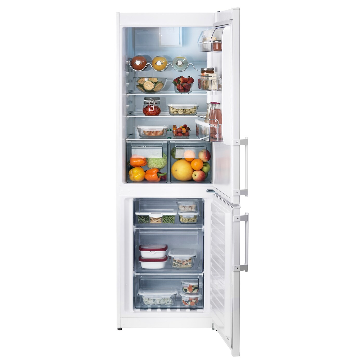 IKEA KYLD fridge/freezer A++ 5 year guarantee. Read about the terms in the guarantee brochure.