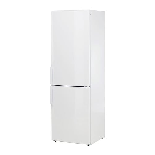 KYLD Fridge/freezer A+ IKEA 5 year guarantee.   Read about the terms in the guarantee brochure.  Freestanding unit; easy to install and move.