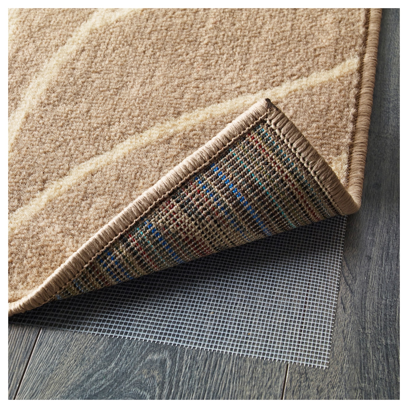 IKEA LÄBORG rug, low pile The thick pile dampens sound and provides a soft surface to walk on.