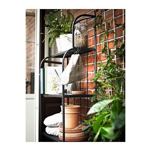 l ck shelving unit outdoor grey 61x160 cm ikea. Black Bedroom Furniture Sets. Home Design Ideas