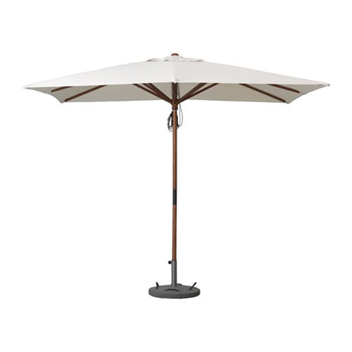 IKEA LÅNGHOLMEN parasol with base The air vent reduces wind pressure and allows heat to circulate.