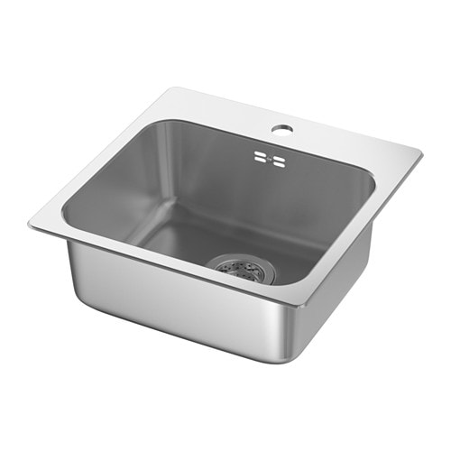 IKEA LÅNGUDDEN inset sink, 1 bowl 25 year guarantee. Read about the terms in the guarantee brochure.