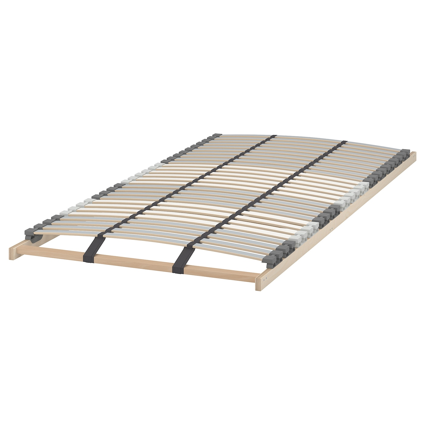 IKEA LÖNSET slatted bed base Comfort zones adjust to your body.