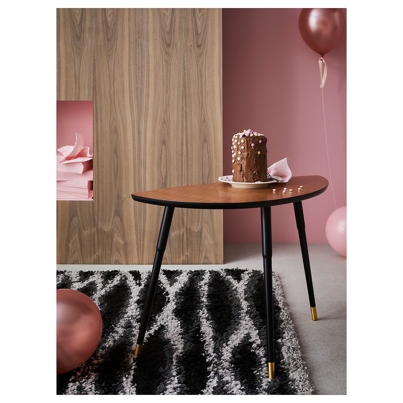 IKEA LÖVBACKEN side table The veneered surface is durable, stain resistant and easy to keep clean.