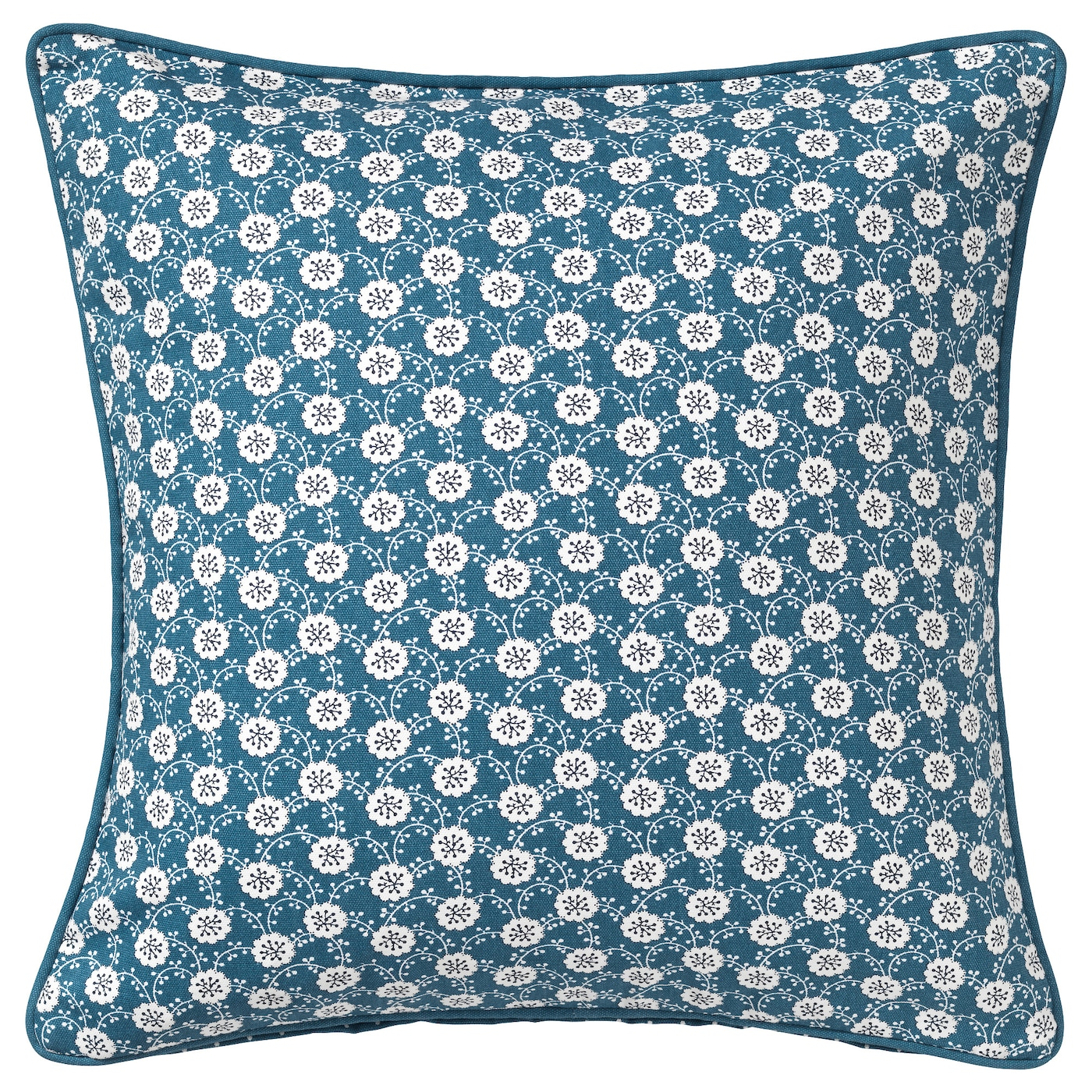 L vkoja cushion cover blue white 50x50 cm ikea for Housse coussin 60x60