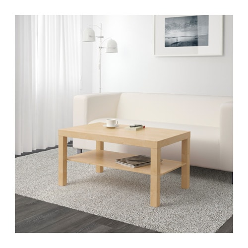 Lack coffee table birch effect 90x55 cm ikea for Tables de nuit ikea