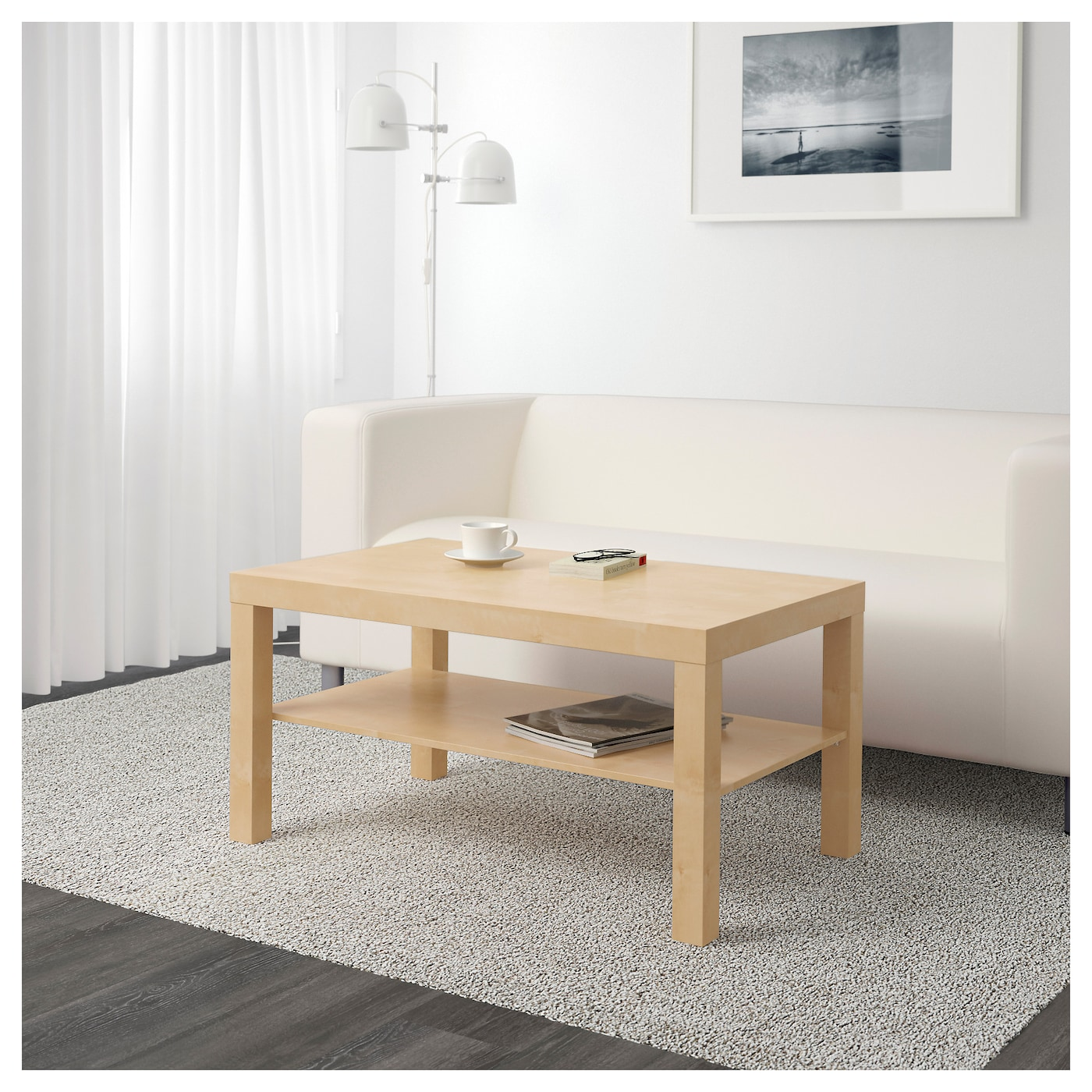 Lack coffee table birch effect 90x55 cm ikea - Ikea table basse lack ...