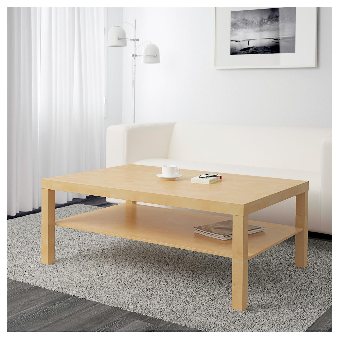 Ikea Metal Coffee Table Wheels: LACK Coffee Table Birch Effect 118 X 78 Cm