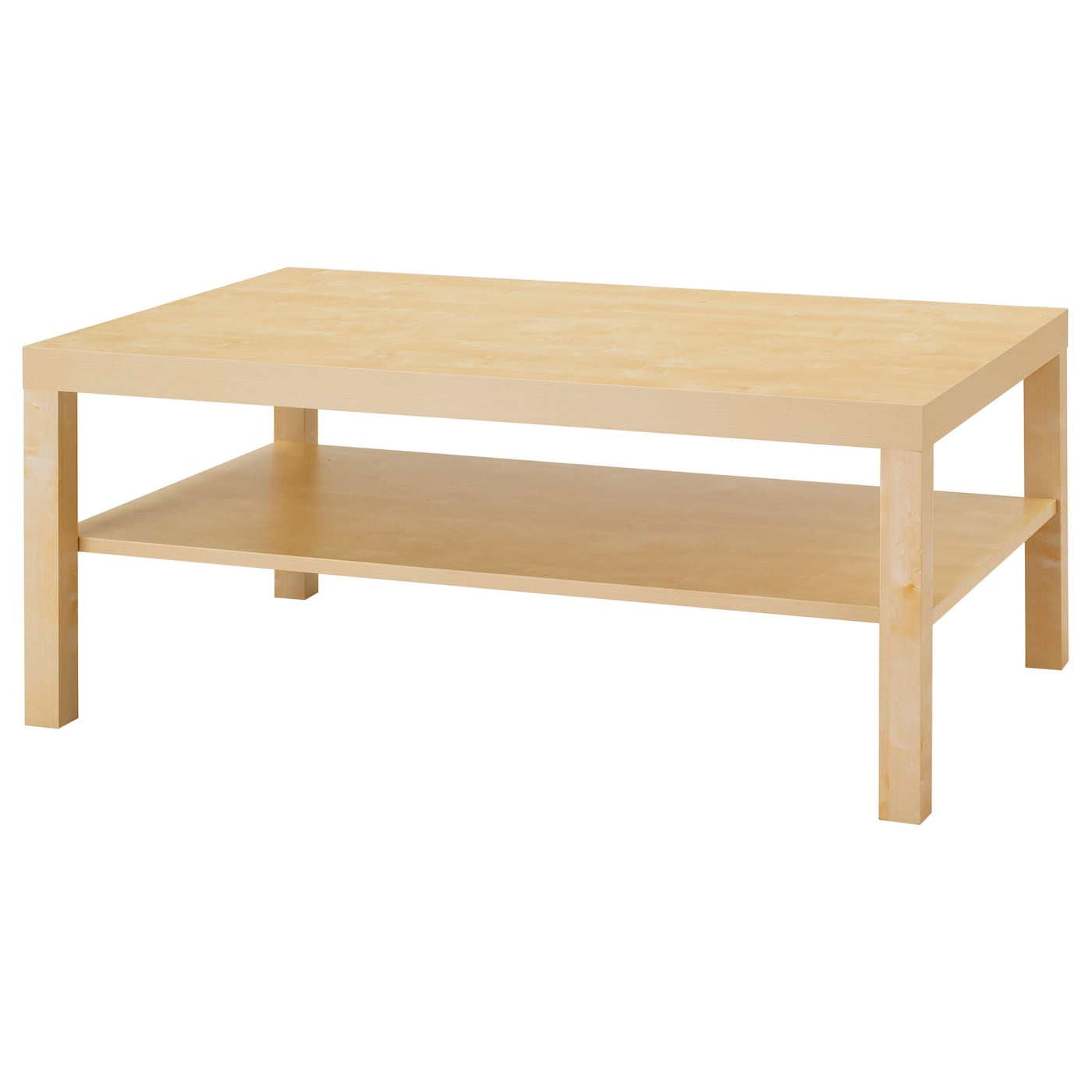 Lack coffee table birch effect 118x78 cm ikea for Table basse bois clair