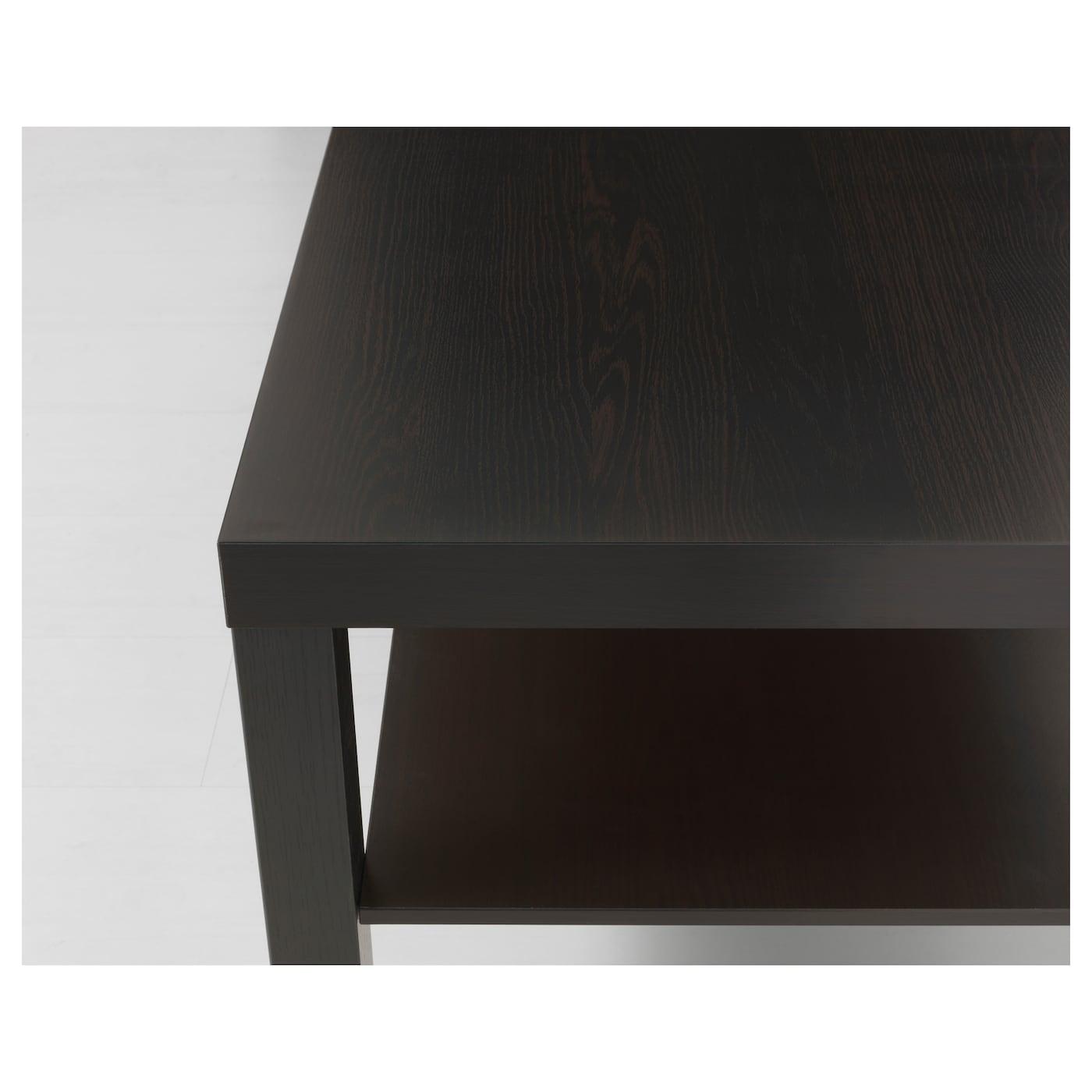 Hemnes Coffee Table Black Brown 90 X 90 Cm: LACK Coffee Table Black-brown 90 X 55 Cm