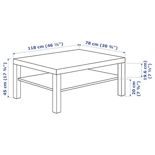 Lack Black Brown Coffee Table 118x78 Cm Ikea