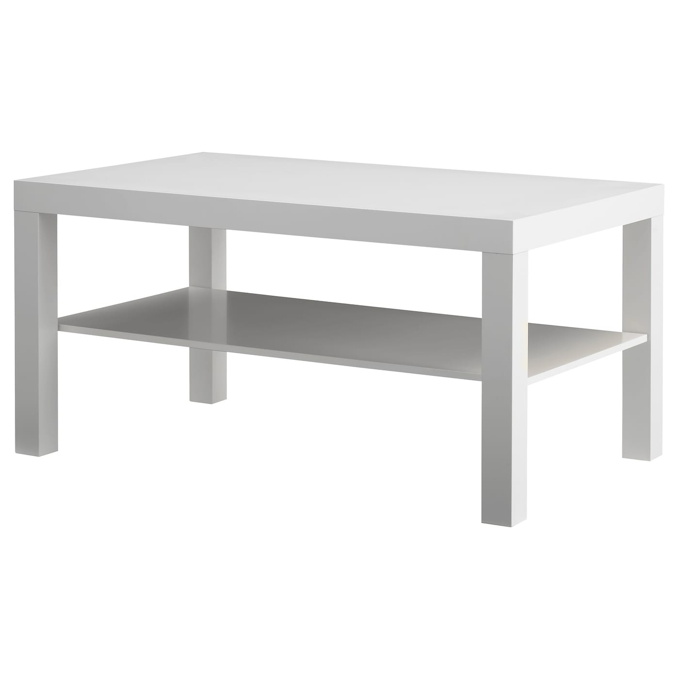 Lack coffee table white 90x55 cm ikea - Table basse noir laque ikea ...