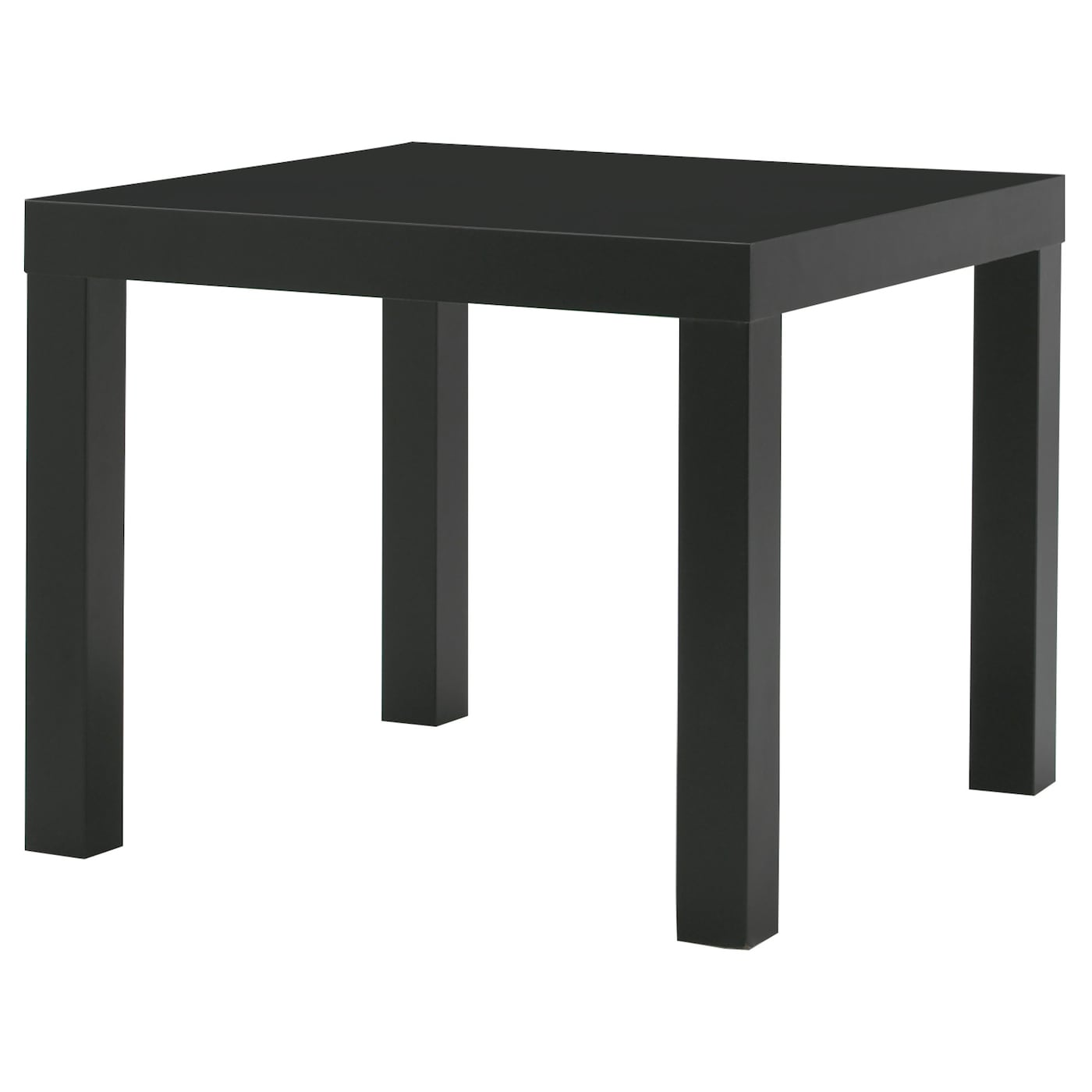 Lack side table black 55x55 cm ikea for Table de fusion ikea