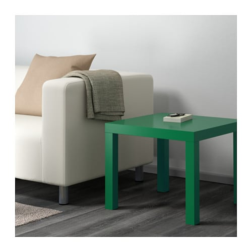 Lack side table green 55x55 cm ikea for Ikea green side table
