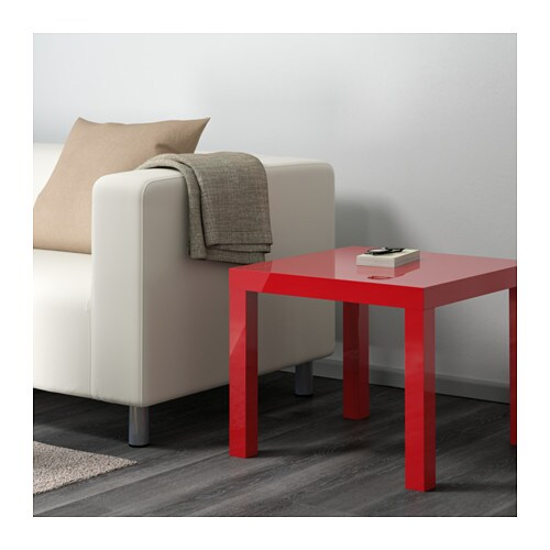 IKEA LACK side table The high-gloss surfaces reflect light and give a vibrant look.