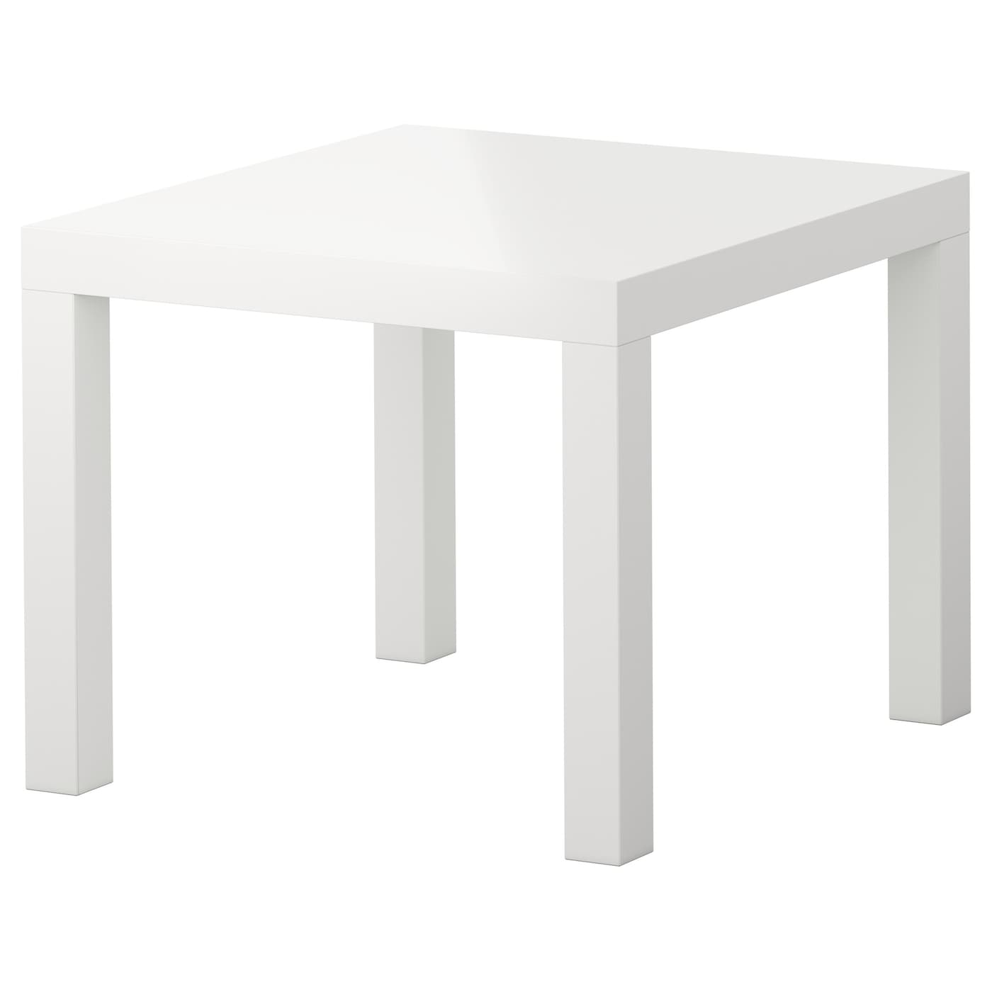 Lack side table high gloss white 55x55 cm ikea for Table ikea blanche