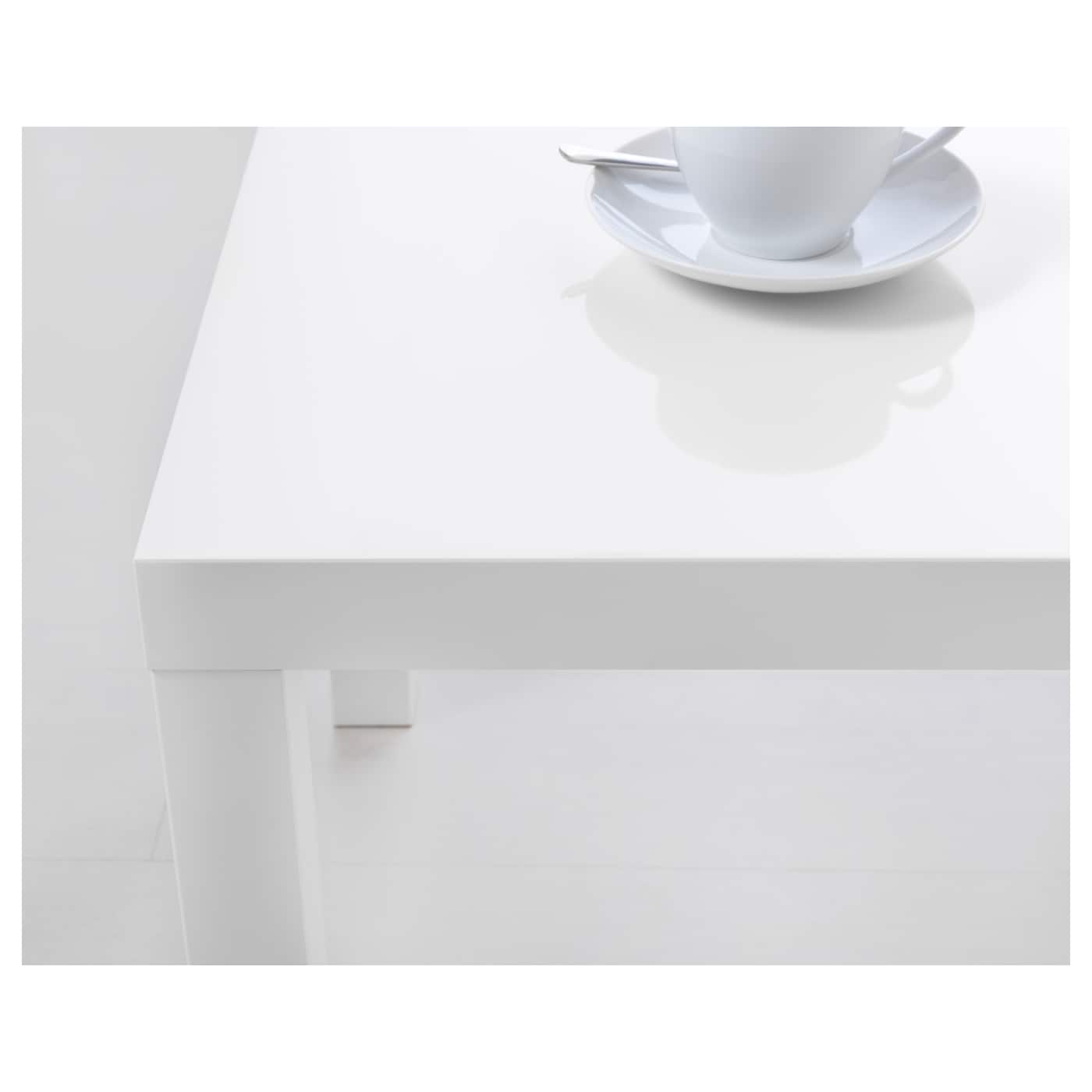 Annika White Gloss Coffee Table: LACK Side Table High-gloss White 55 X 55 Cm