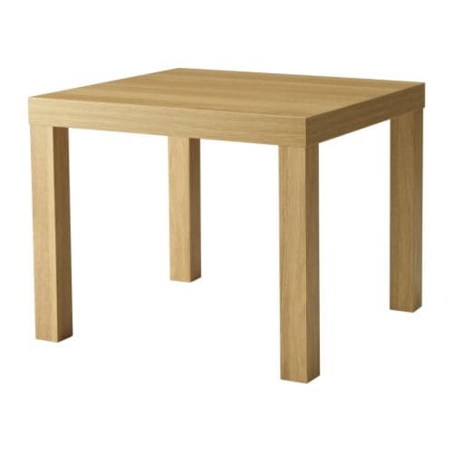 Lack side table oak effect 55x55 cm ikea - Ikea table basse lack ...